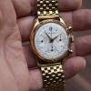 mathey Tissot gold chronograph