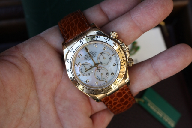 gold rolex mother of pearl