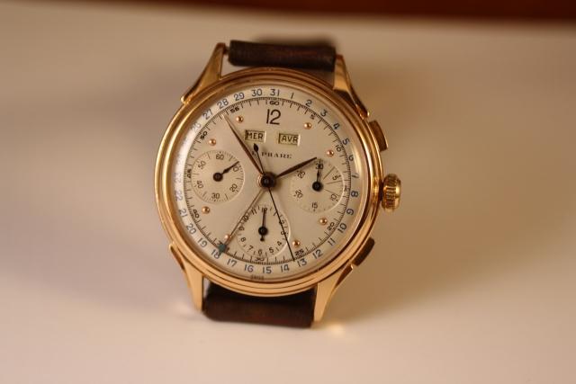 triple date chronograaf rose goud
